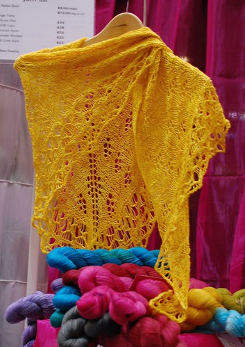 Jade Cashmere Shawl at the Unwind Booth