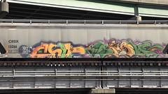 CHIP7 & SIGH (BLACK VOMIT) Tags: train graffiti ol south dirty richmond dos va sigh chip mayhem freight chip7