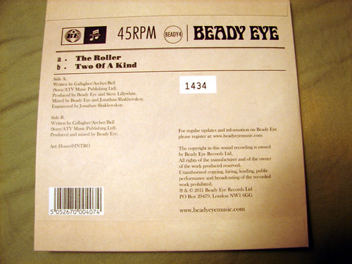 "Beady Eye - ""The Roller"" Special Edition 7"""