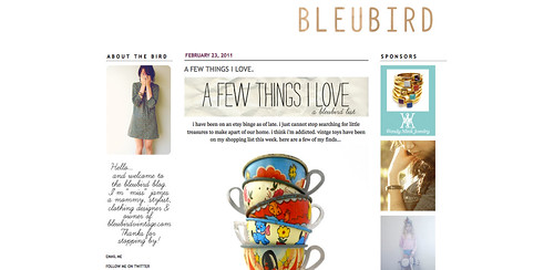 Blogs I love - Bleubird