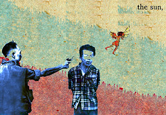 The Sun (Humphrey King) Tags: sun art collage angel death war gun vietnam