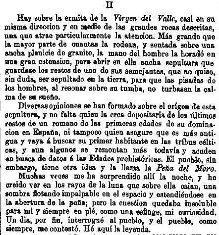 Leyenda de La Peña del Moro publicada en La Amérca por Eugenio de Olavarria y Huarte. Página 4