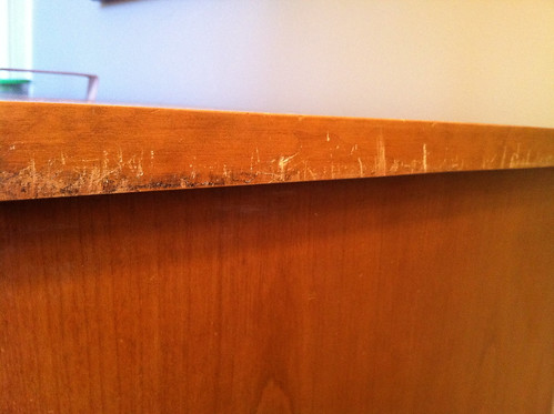 Dresser scratches