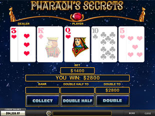 free Pharaoh's Secrets slot gamble feature