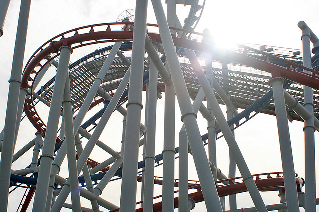 Lifts, drops, corkscrews and spins - all part of the 90-second thrill ride