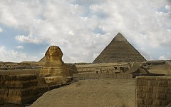 The Sphinx (janetfo747) Tags: weather sphinx canon day pyramid cloudy egypt giza canonpowershot eg a620 ancientegyptian pyramidofkhafre oldkingdom greatpyramidofgiza thegreatsphinxofgiza