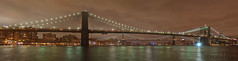 NYC - Brooklyn Bridge Panorama (GlobeTrotter 2000) Tags: street new york city nyc bridge summer vacation panorama usa tourism apple brooklyn night pier big manhattan united getty 17 states fulton 17th senventeen