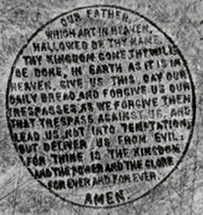 Lord's Prayer on Point of Pin