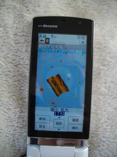 携帯画面で見る海底ソナー画像(三浦半島、釣りポイント、サバ根)4