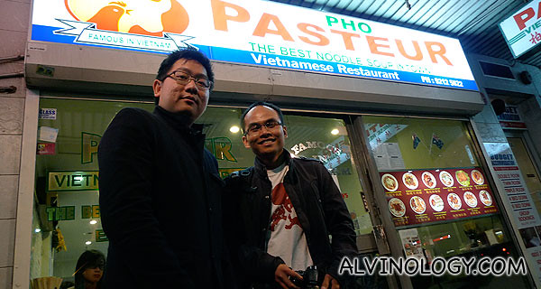Me and my Laotian friend, Xai, outside a Vietnamese restaurant in Chinatown