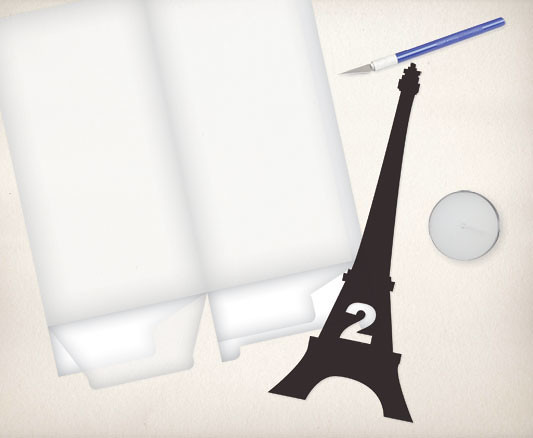 eiffel tower light box DIY