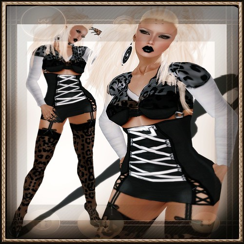 A&A Fashion Outfit XxX Black White