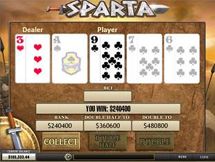 free Sparta slot gamble feature