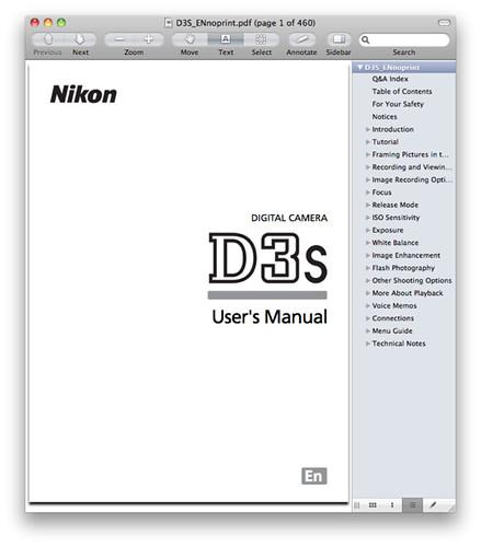 Nikon D3S Manual