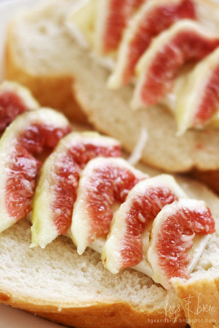 Figs and brie on Vienna bread