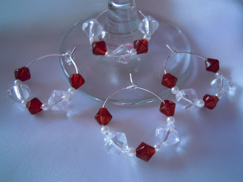 Chic Wedding Wine Glass Ring Charms