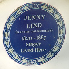 Photo of Jenny Lind and Madame Goldschmidt blue plaque