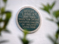 Photo of Hugh Lane green plaque
