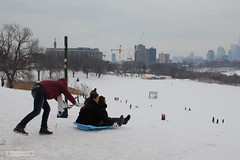 Native Indian Word: Toboggan (Canadian Pacific) Tags: park winter snow toronto ontario canada game fun outdoor hill canadian player valley activity sled tobogganing slope toboggan snowcovered donvalley riverdalepark wintry donriver funseekers