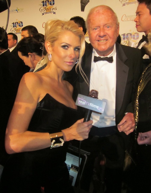 Jennifer Lexon, Dick Van Patten, Night of 100 Stars Oscar Party 2011