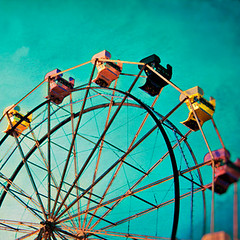 Aquamarine Dream (5x5) (Melanie Alexandra Photography) Tags: carnival summer aquamarine ferriswheel
