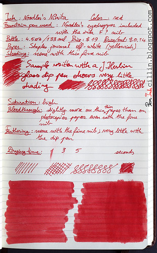 Noodler's Nikita ink on Staples journal