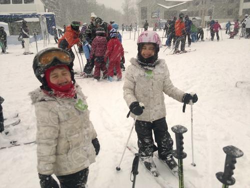 skiing after huge snowfall by ngoldapple