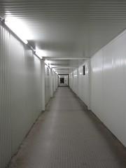 Light Tunnel (John of Witney) Tags: light white night germany dark munich mnchen bayern deutschland bavaria vanishingpoint path tunnel passage