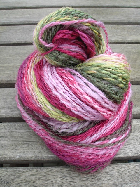 Pink Lady Apple handspun 009