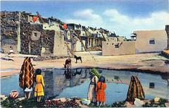 Postcard: Pueblo of Acoma, New Mexico (jmlwinder) Tags: newmexico pueblo nm acoma picnik curtteich scannedlinenpostcard 6ah2777