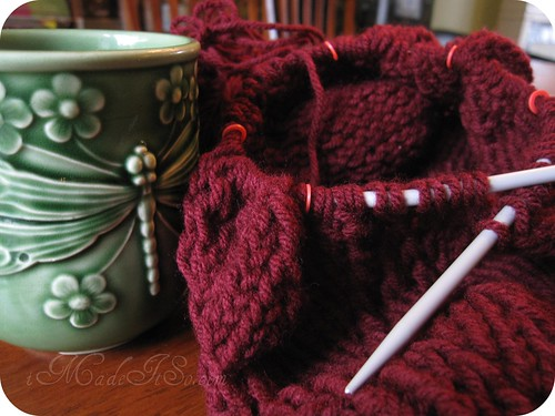 knitting stitch markers on circular needles