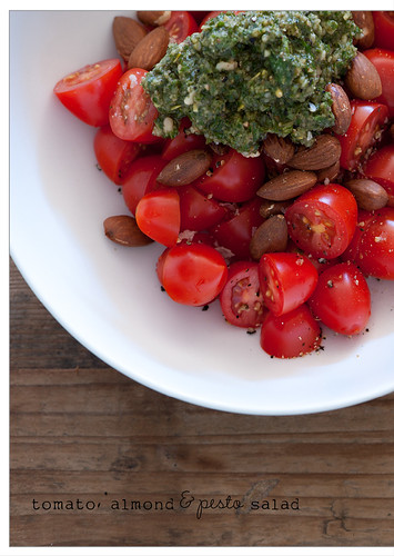 tomato, almond & pesto salad