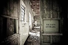 Verboten (Funky64 (www.lucarossato.com)) Tags: door old abandoned danger dangerous decay forbidden porta noentry pericolo vietato pericoloso abbandono lucarossato funky64 vrboten