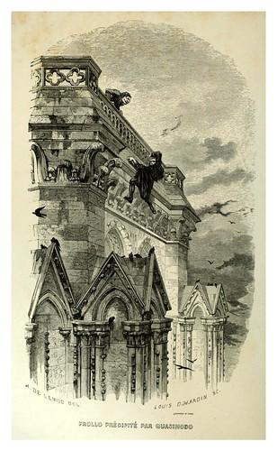 016-Frollo es lanzado por Quasimodo-Notre-Dame de Paris 1844- edicion Perrotin Garnier Frères