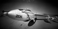 B-47 Stratojet Through a Pinhole (integrity_of_light) Tags: bw film aircraft jet nuclear pinhole boeing bomber tucsonarizona pimaairmuseum b47 stratojet