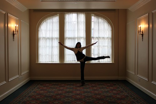 swan pose! inside the Davenport Hotel 3-5-11