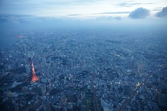Tokyo from the Air (chee_hian) Tags: city japan buildings tokyo evening sony  tokyotower aerialphoto   sonyalpha flickrdiamond alpha850