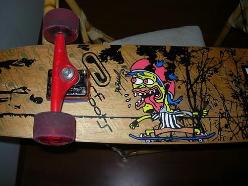 My longboard - Cartoon by me.