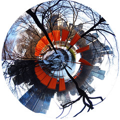 Planet Gates (jankor) Tags: panorama geotagged 360 planet stitched 360 360degree littleplanet 360grad geo:lon=7397703 planetepanoramique geo:lat=40769337