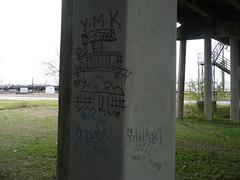 Triple Stack ymk gutrot (KINGSNEVERSUFFER) Tags: railroad texas streak tx houston stack hobo triple ymk moniker wbd gutrot