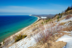 """Michigan's Caribbean"" Empire Bluff - Sleeping Bear Dunes National Lakeshore - Empire, Michigan (Michigan Nut) Tags: usa snow beach geotagged lakemichigan sanddunes sleepingbeardunesnationallakeshore benziecounty hikingmichigan empiremichigan michigannutphotography"