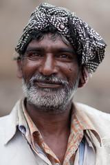 Hyderabad Man #1 (cmckulka) Tags: travel portrait people india hyderabad shallowdof singleperson