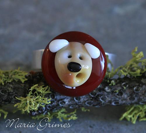 Lampwork Doggie Ring