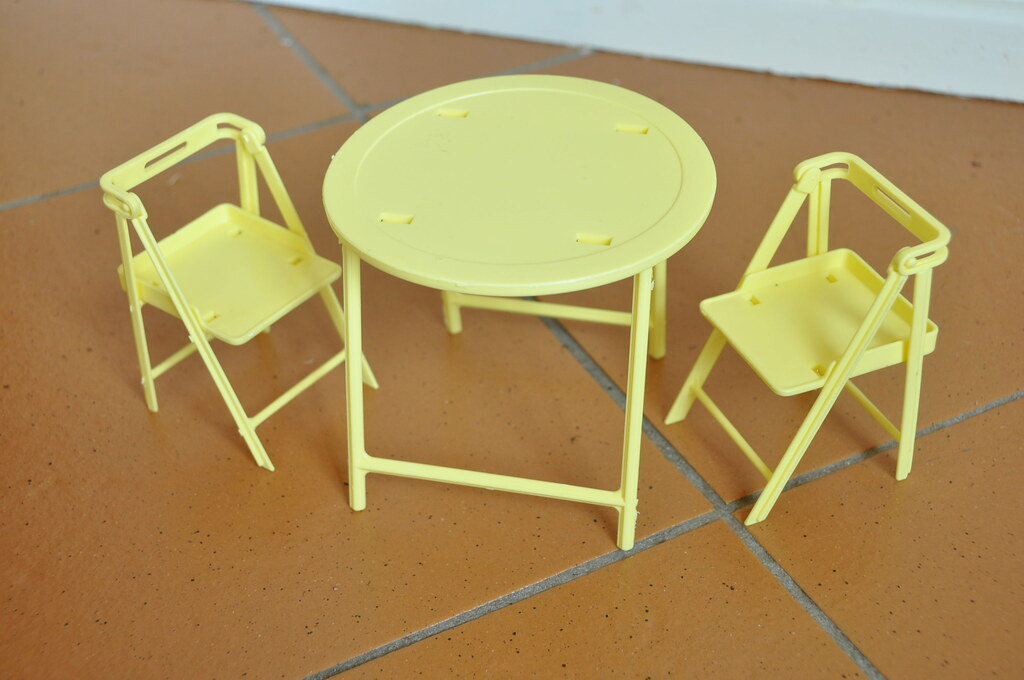 Mattel Barbie Folding Table and Chairs
