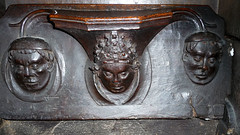 Misericord Archbishop Chichele Portrait medieval woodwork