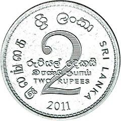 2011 - Sri Lanka - 2 Rupee reverse