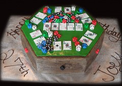 "Poker table birthday cake • <a style=""font-size:0.8em;"" href=""http://www.flickr.com/photos/60584691@N02/5524767389/"" target=""_blank"">View on Flickr</a>"