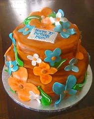 Luau Flowers Cake (Cakes by Gaby!) Tags: birthday flowers cakes cake hawaii florida miami luau cakesbygaby