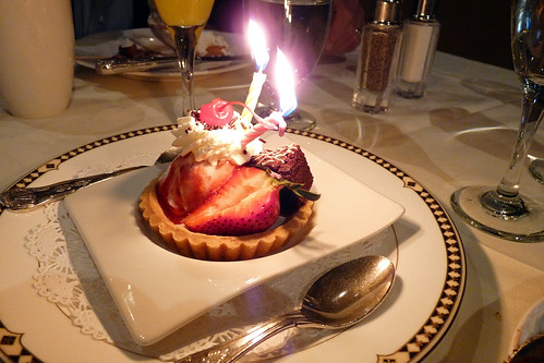 Our Anniversary Dessert at the Mission Inn