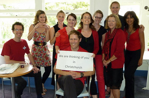 Languages International Auckland Teachers on Red & Black Day, a Christchurch Earthquake Fundraising Event